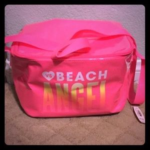 Pink victoria's secret beach angel thermal bag